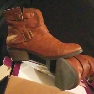 Just Fab Carlin Brown Booties